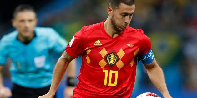 Eden Hazard lors du match Brésil-Belgique en quart de finale de Coupe du