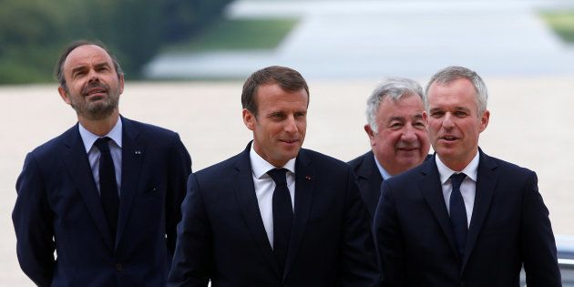 Emmanuel Macron (ici aux côtés des président de l'Assemblée et du Sénat et du premier ministre) s'est...