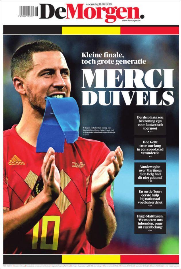Samuel Umtiti: sa pose après son but victorieux lors de France-Belgique à la Une de la