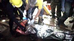Une vidéo des secouristes montre les enfants thaïlandais sous sédatif, sortis de la grotte sur des