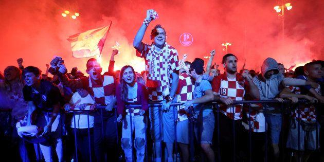 Croatie-Angleterre à la Coupe du monde: Liesse exceptionnelle à Zagreb après la qualification des Croates...