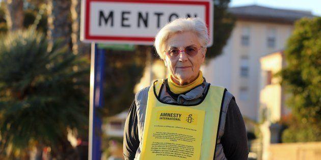 MartineLandry (ici en décembre 2017 à la frontière franco-italienne), poursuivie