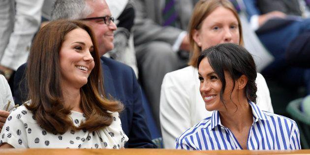 Meghan Markle et Kate Middleton entre belles-sœurs et sans leurs époux dans les tribunes de