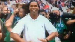 Ronaldinho et sa conga en invités surprises de la cérémonie de clôture du