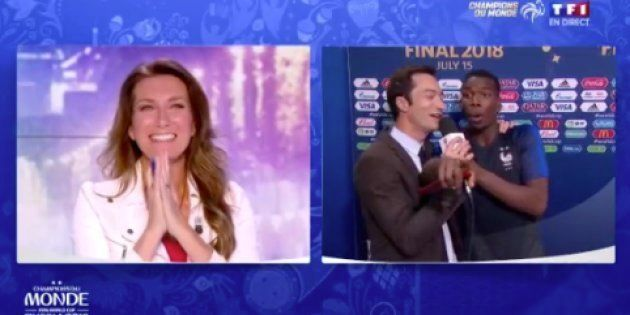 Les Français champions du monde: Paul Pogba veut répondre au tacle d'Anne-Sophie Lapix... mais s'adresse...