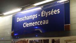 La RATP célèbre la victoire de l'équipe de France et change les noms de plusieurs stations de