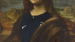 Le Louvre a revêtu la Joconde du maillot bleu (ce qui a un peu agacé les