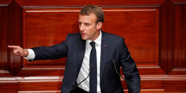 Emmanuel Macron lors du Congrès de Versailles le 9