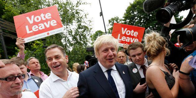 L'ancien maire de Londres Boris Johnson en campagne