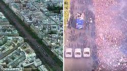 On a comparé le temps passé des Bleus sur les Champs-Élysées en 2018 et 1998 et ça n'a vraiment rien à