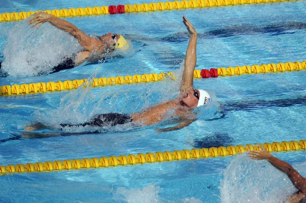 L'américain Ryan Lochte lors des championnats du monde de natation à Rome, en