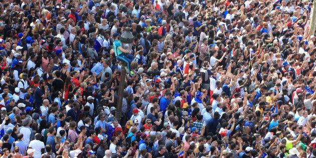 Coupe du monde 2018: deux interpellations pour agression sexuelle pendant les célébrations de la victoire...