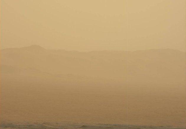 Mars pendant la tempête, le 11 juin, vue par
