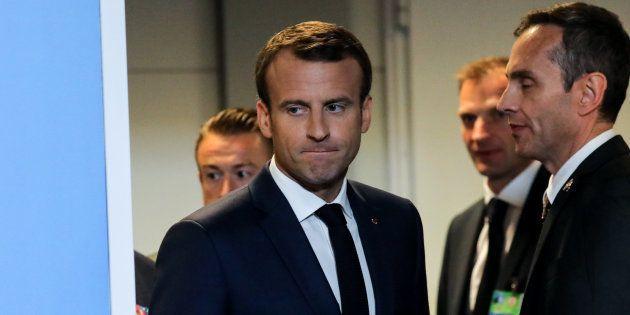 Emmanuel Macron au sommet de l'OTAN à Bruxelles le 12