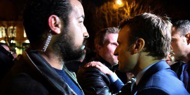 Alexandre Benalla pendant la campagne de Macron en février