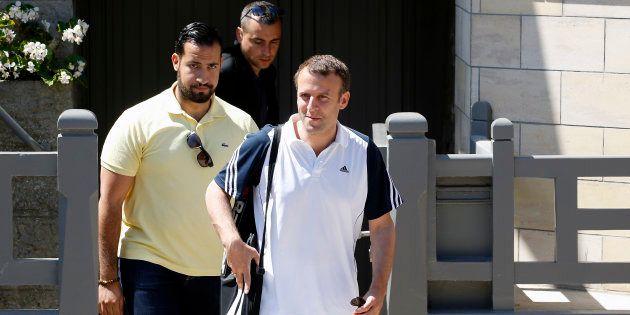 Emmanuel Macron et Alexandre Benalla au Touquet en juin
