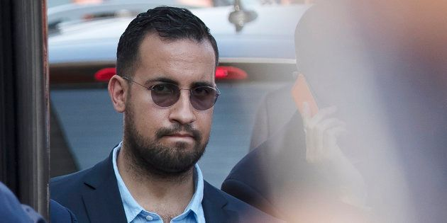Alexandre Benalla (ici le 16 juillet), Vincent Crase et les trois policiers mis en examen après les violences...
