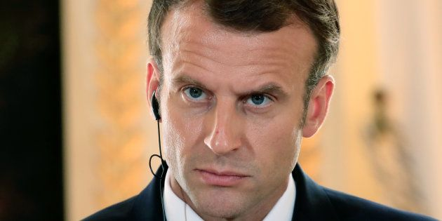 Emmanuel Macron à l'Elysée le 17