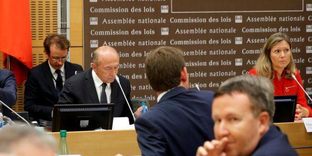 Le ministre de l'Intérieur Gérard Collomb lors de son audition par la Commission d'enquête parlementaire...