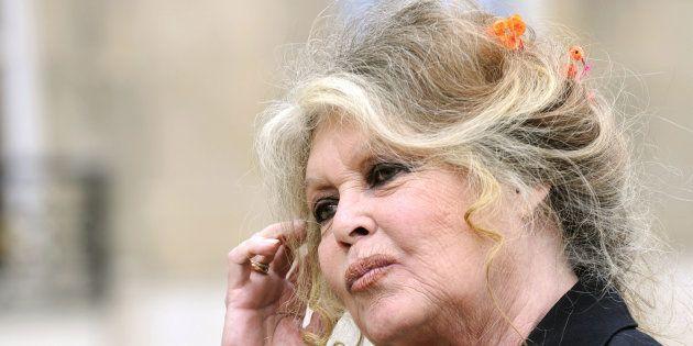 Brigitte Bardot à l'Elysée en septembre 2007 après une rencontre avec le président Nicolas