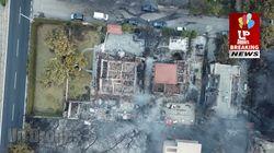 Ces images vues du ciel donnent une idée des ravages dramatiques des incendies en