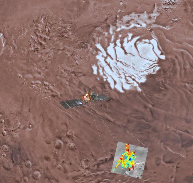 Il y aurait un vaste lac d'eau liquide sur Mars (en