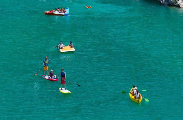 Paddle dans les Gorges du Verdon