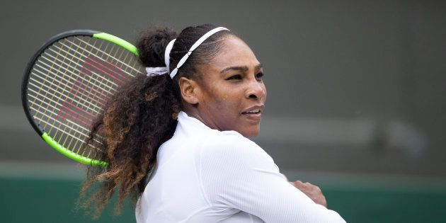 Serena Williams au tournoi de Wimbledon, Londres, le 10 juillet