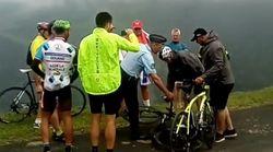 Pris pour un touriste à vélo, Chris Froome est plaqué par un