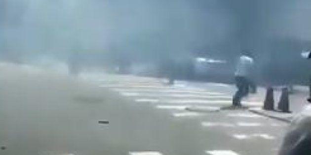 Explosion à l'extérieur de l'ambassade des États-Unis à