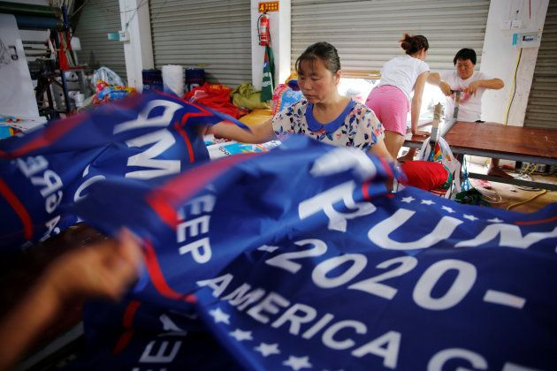 Trump réélu en 2020? Des milliers de drapeaux