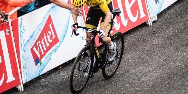Geraint Thomas lors de la 17ème étape du Tour de France le mercredi 25