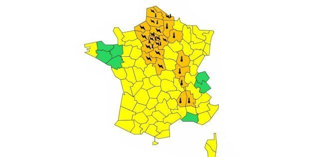 Orages et canicule: Météo-France place 25 départements en vigilance