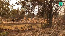 Les terribles images de la désolation après les incendies qui ont ravagé la