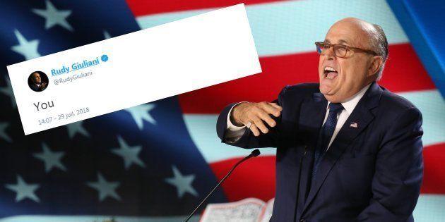 Mais qu'est-ce que Rudy Giuliani voulait dire avec ce tweet? Ces Américains imaginent la