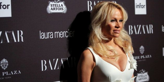 Pamela Anderson attends Harper's Bazaar's celebration of 'ICONS By Carine Roitfeld' at The Plaza Hotel...