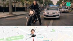 Le parcours de Tom Cruise à moto dans