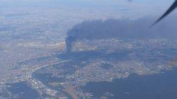 Cet incendie dans une usine de l'Essonne était visible de toute