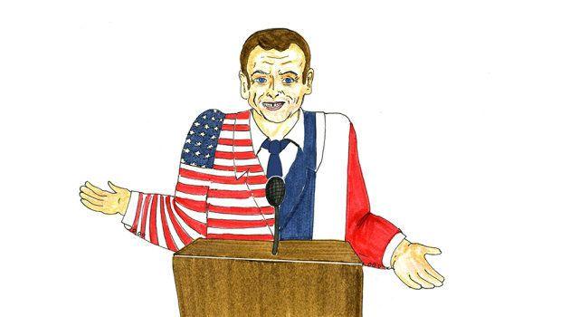 À Davos, Macron ne tient pas le même discours en français qu'en anglais (et même les Américains ne sont...
