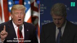 On a imaginé le discours de Trump à Davos (à l'opposé de celui de Clinton en