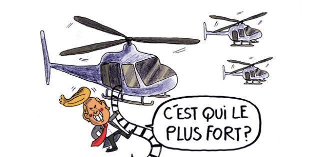 Le convoi d'hélicoptères de Trump à Davos a été très remarqué par les internautes
