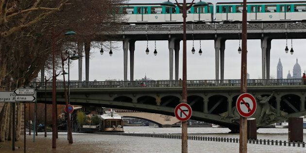 La crue de la Seine cette