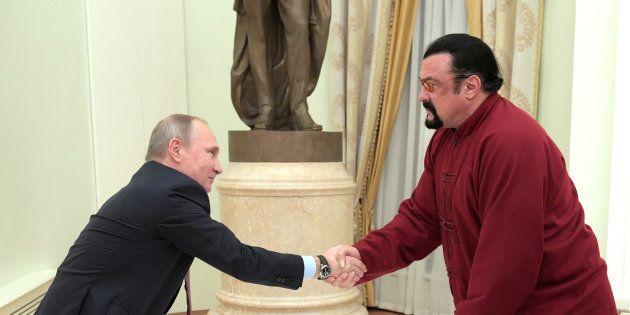 Vladimir Poutine et Steven Seagal à Moscou en