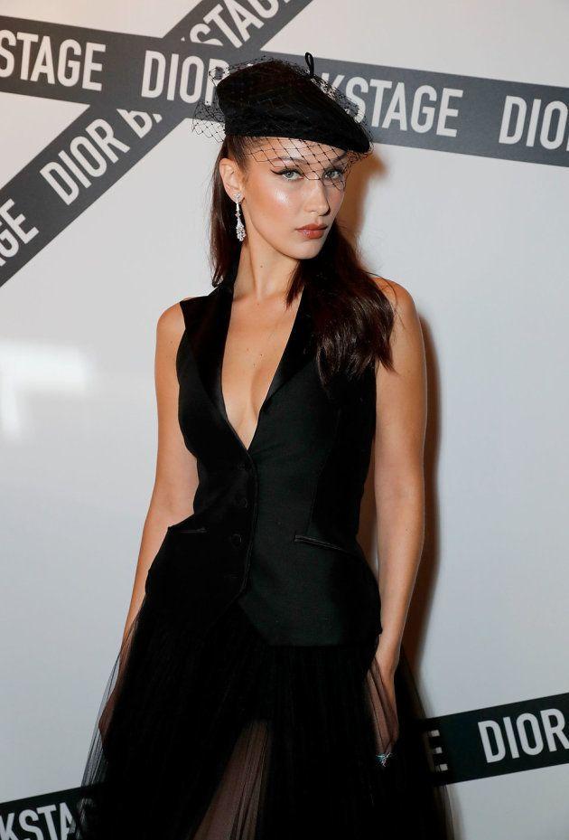 Le mannequin assiste à la soirée Dior Backstage chez Loulou, à Londres, le 29 mai 2018.