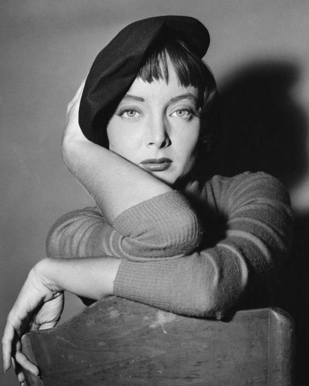 L'actrice avec un béret sur une photo non datée.
