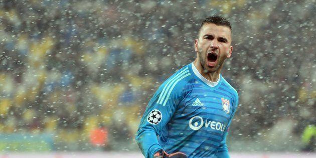 Le gardien de Lyon, Anthony Lopes, a évidemment savouré la qualification des siens pour les huitièmes...