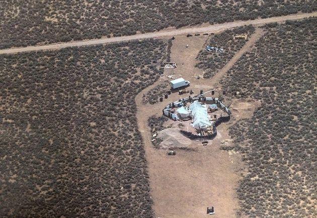 Le taudis à Amalia, au Nouveau Mexique, où la police a retrouvé 11