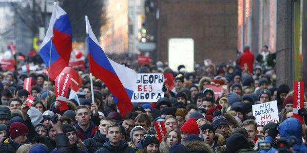 Manifestations en Russie pour le boycott de l'élection