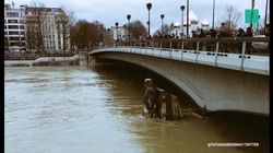 Les images de la crue de la Seine vue par les internautes avant le