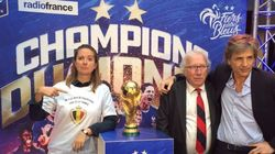 Sur cette photo, Charline Vanhoenacker n'a pas digéré la défaite de la Belgique au